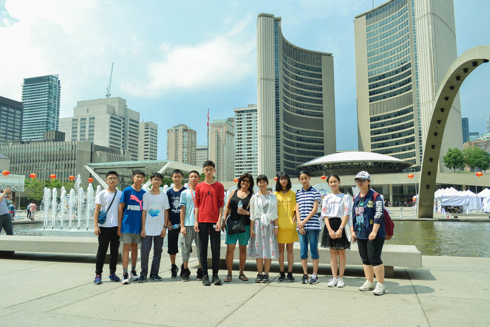 Downtown Toronto, in front of City Hall
