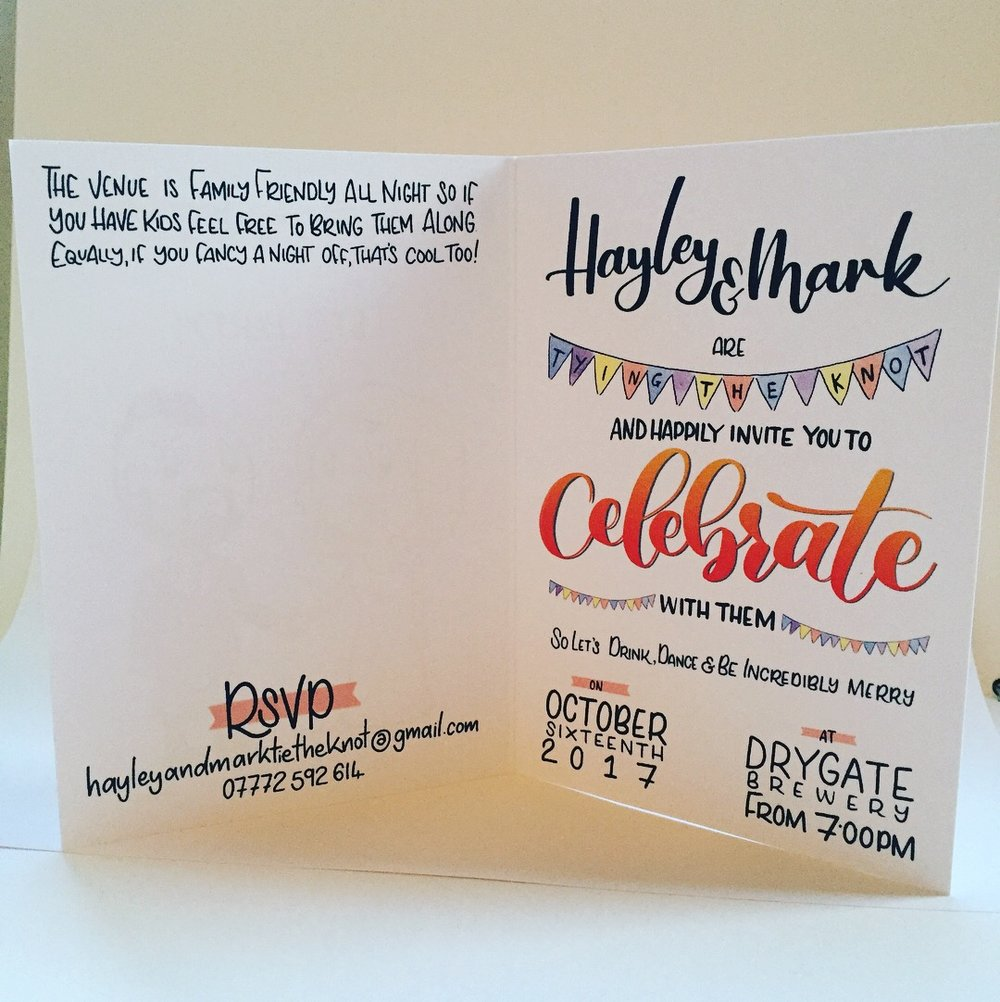 Printed Invitation