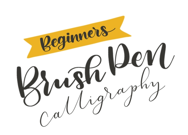 beginners brush pen calligraphy with toasty type