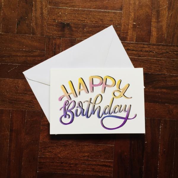 Happy Birthday Card Toasty Type
