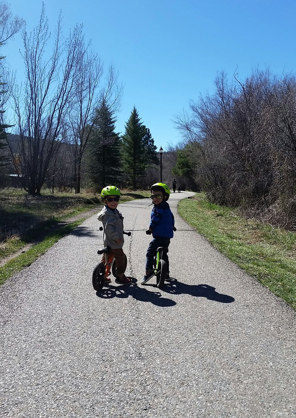 Riding bikes with my best friend in spring...