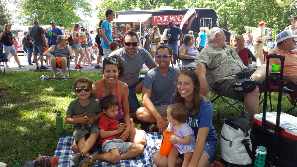 Enjoying Comfest in downtown Columbus, Ohio.