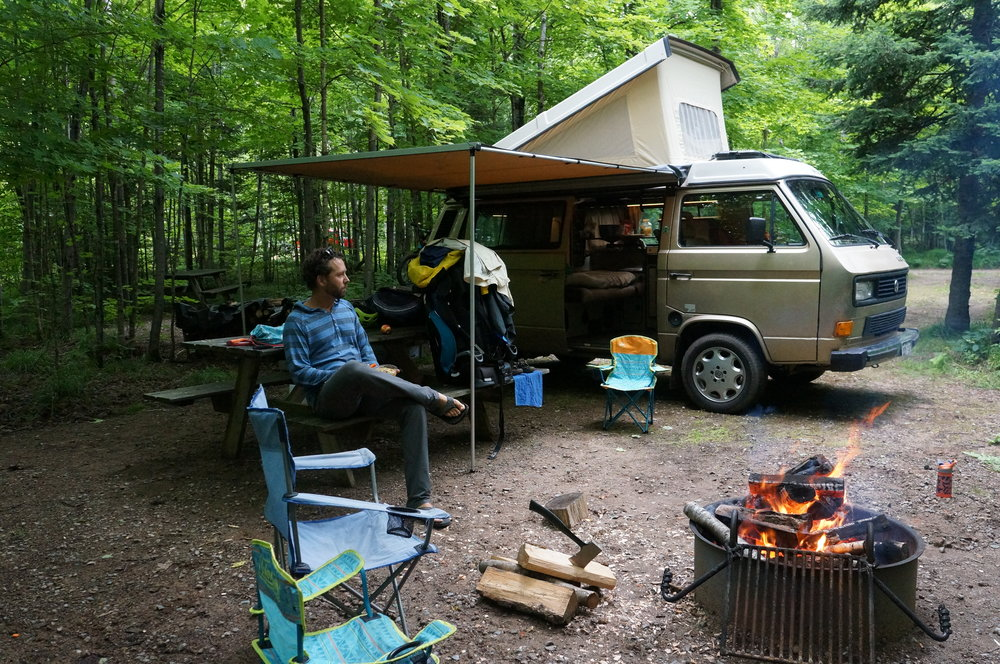 Camping in Wisconsin.