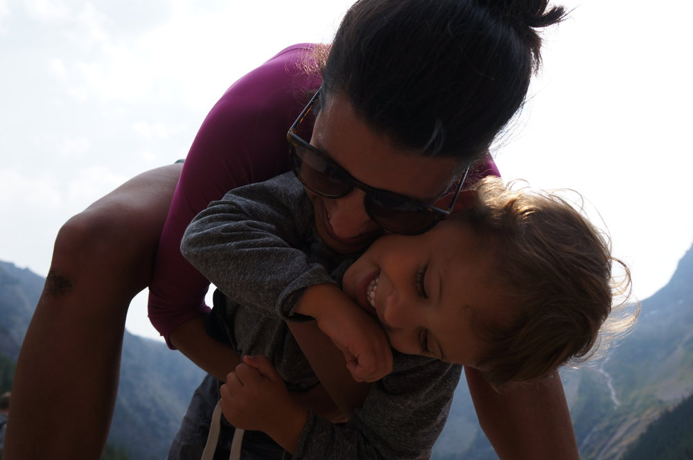 Reid and mama