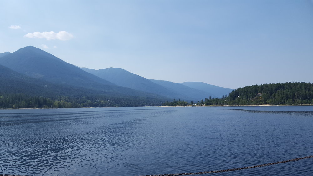 Ferry views of Kootenay Lake