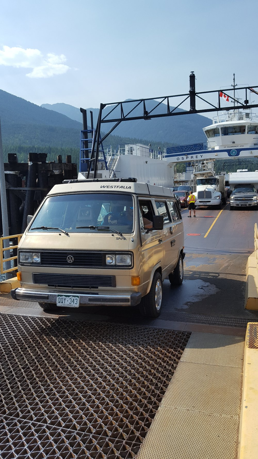 You can ride this ferry with your car (or camper) FOR FREE.  Um, yes.