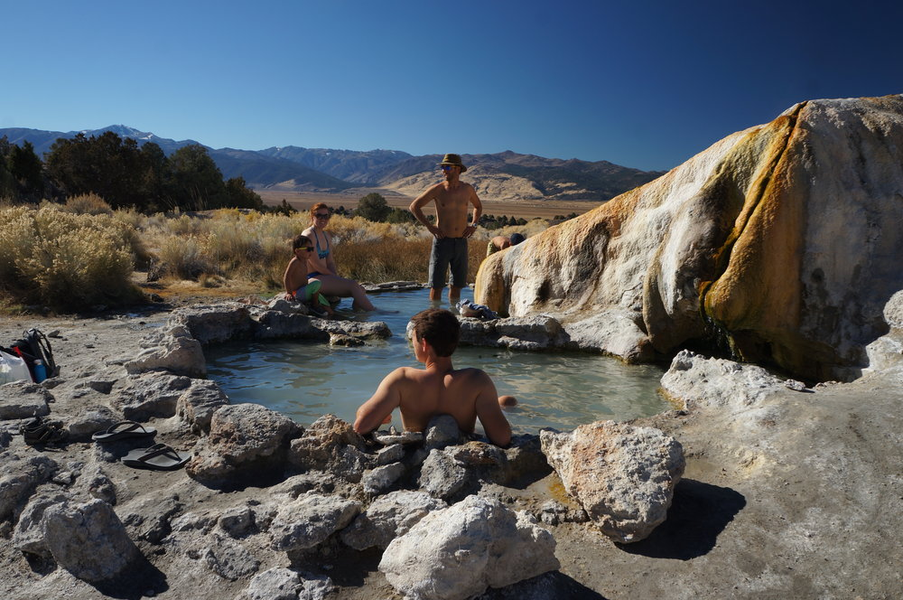 Travertine Hot Springs and Views