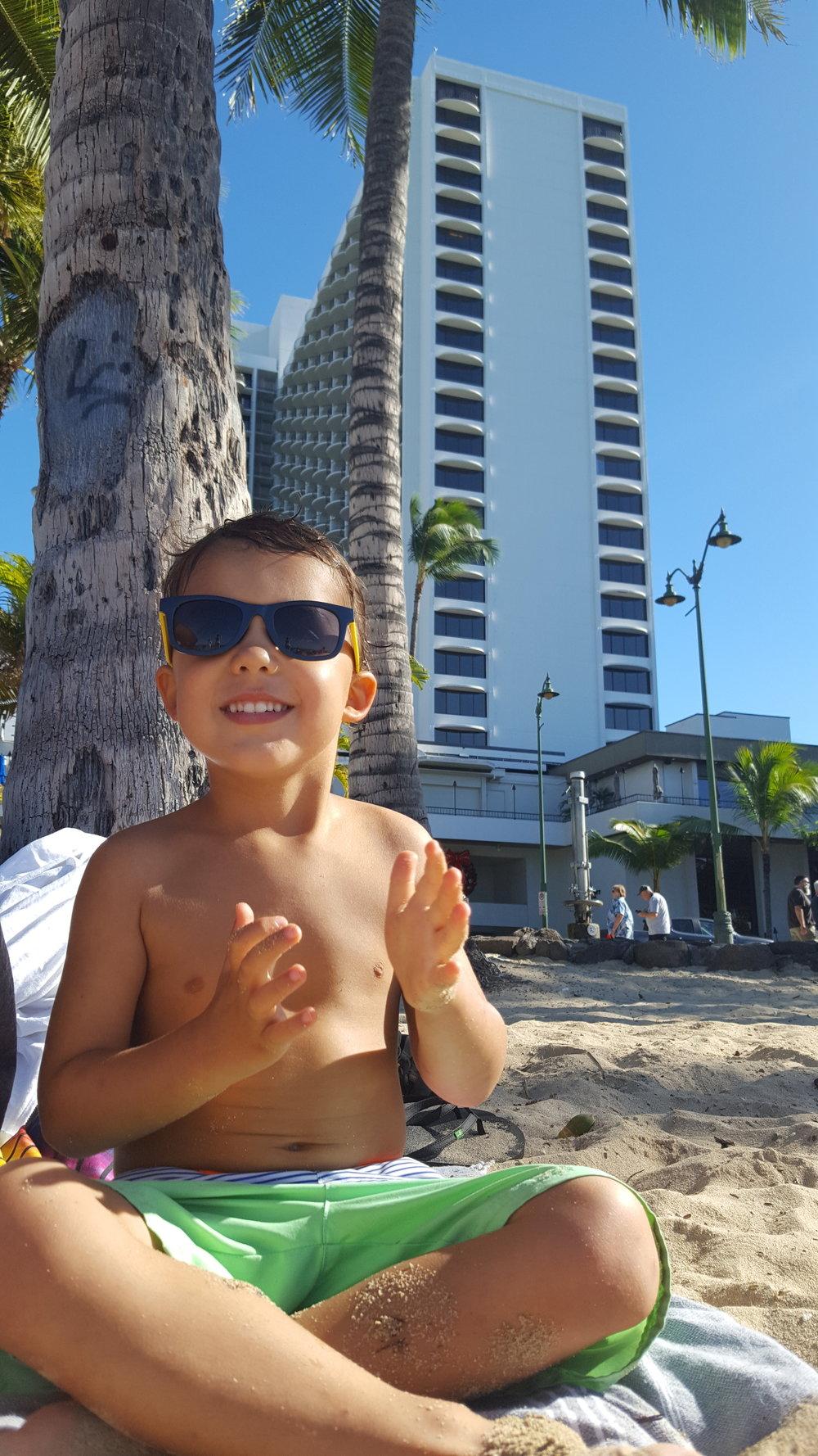 Reid on Waikiki Beach