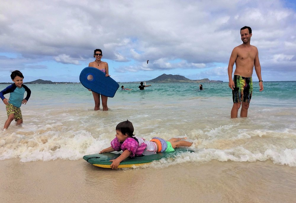 "Our current ""home-town"" beach in Kailua, Oahu"