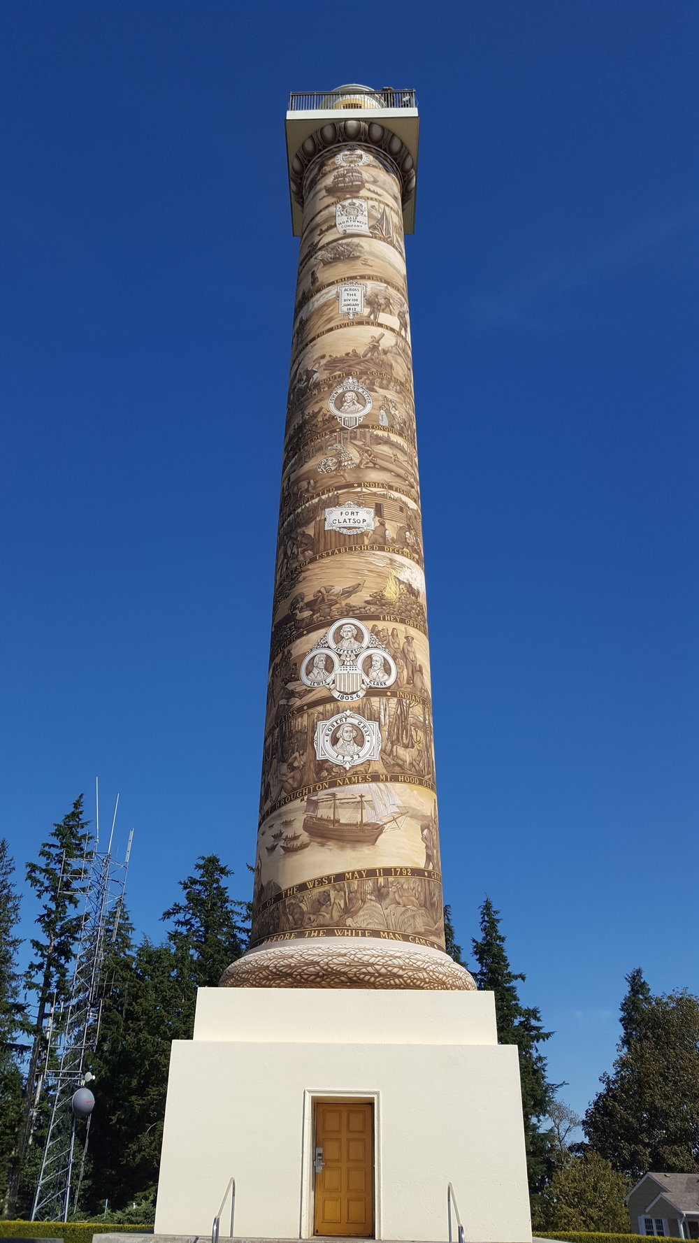 The Astoria Column - I climbed the stairs inside to the top and back down. Was sore for days afterwards. Good indicator that I need to work out more.