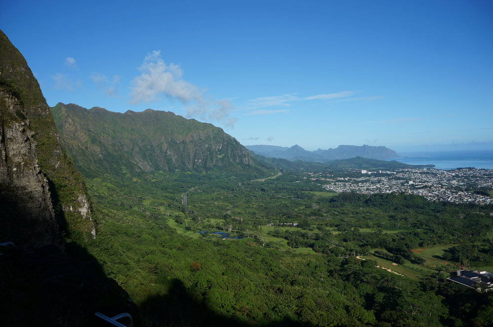 Pali Lookout views are pretty spectacular!