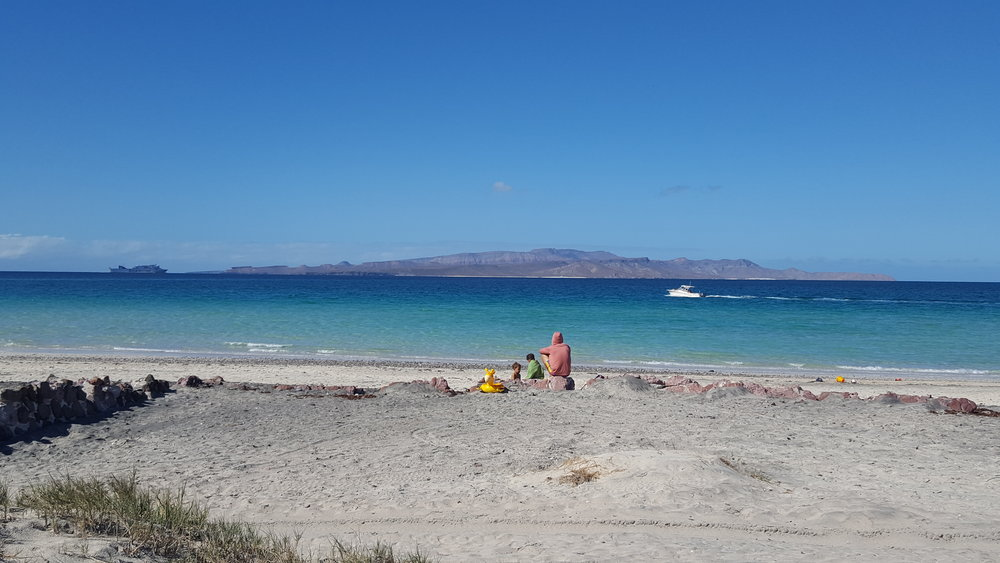 Tecolote Beach, outside La Paz, Baja.