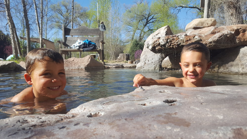 A glorious morning for a hot springs soak for the jibs.