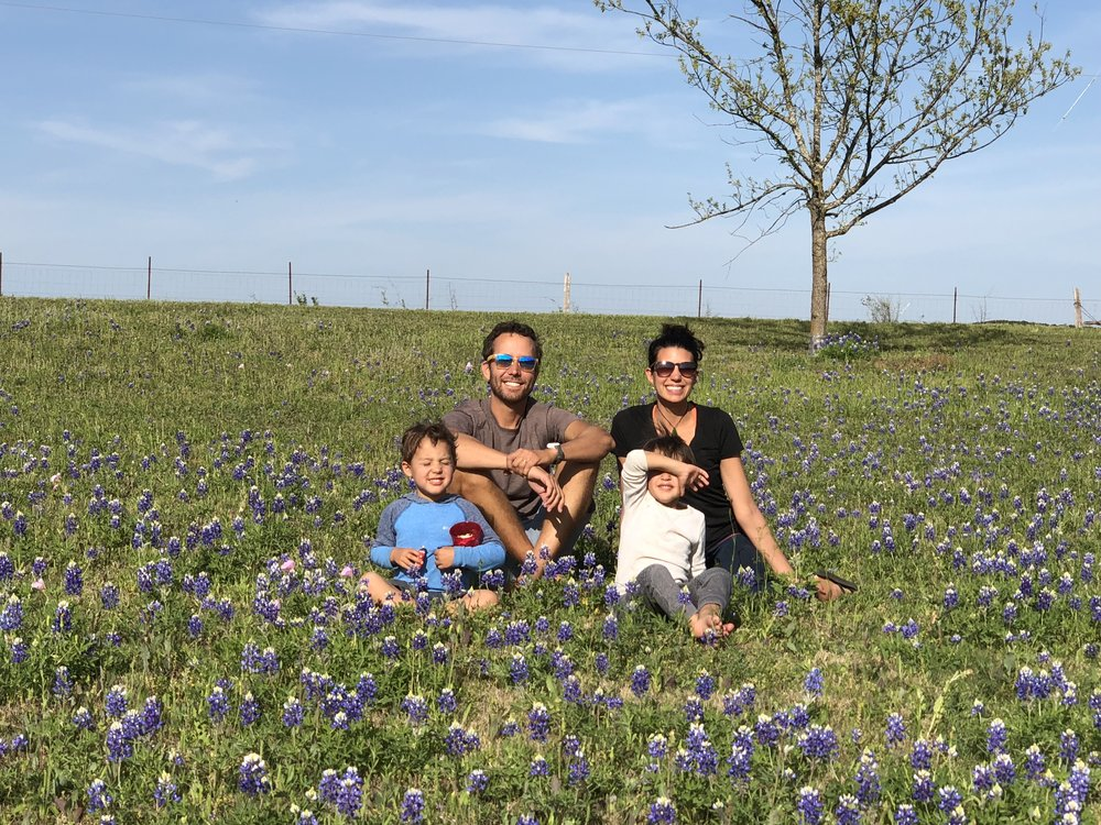 Enjoying the bluebonnets - they apparently don't last long!