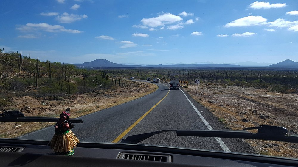 Approaching Guerrero Negro, Baja California Sur