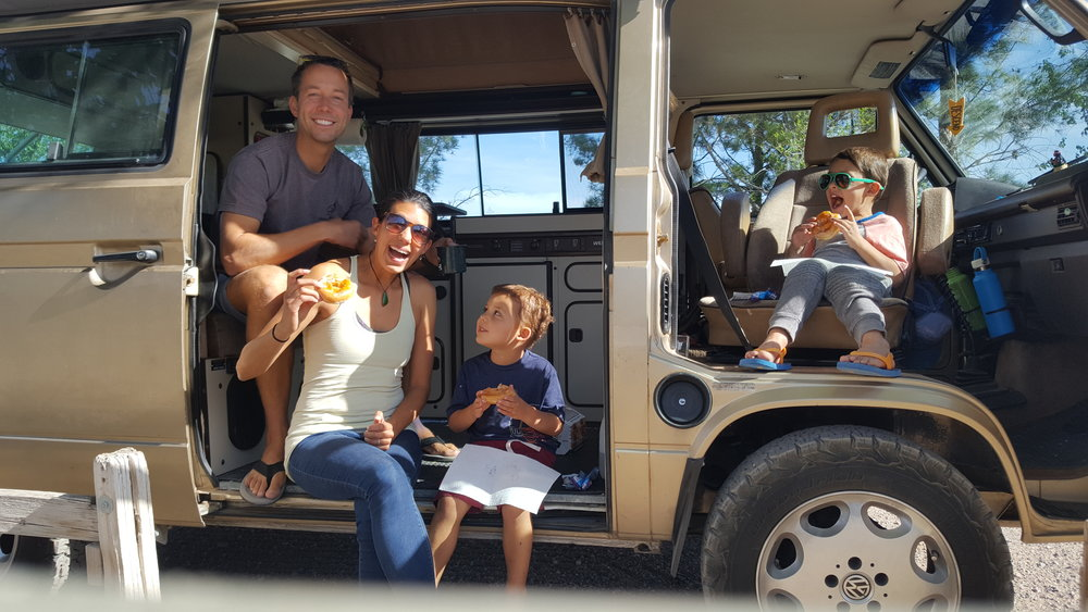 Celebrating our 10th month on the road with DOUGHNUTS in New Mexico!!!