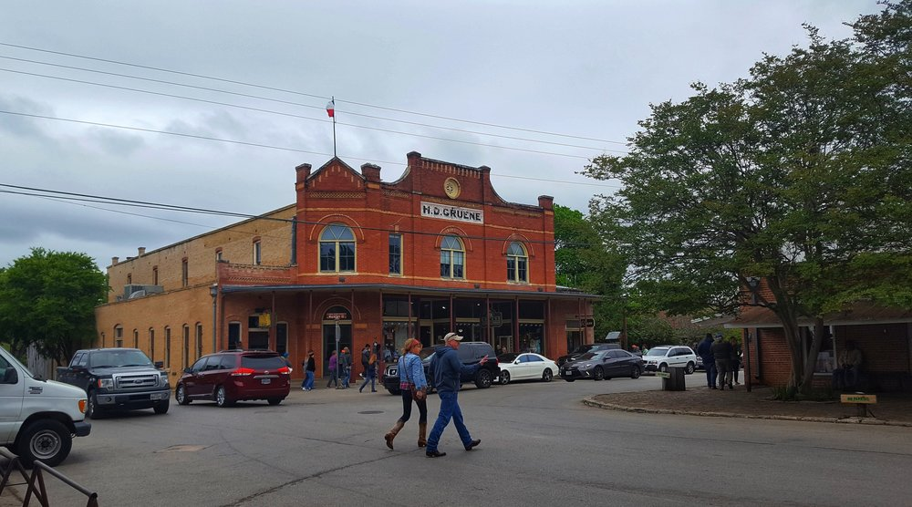 Historic town of Gruene, Texas.