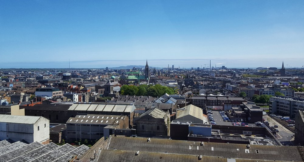 Stunning views from The Gravity Bar on top of the Guinness Factory