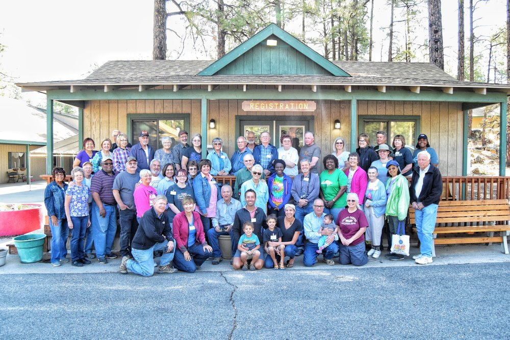Our dedicated, hardworking, and extremely good looking volunteer group at Camp Yavapines in Prescott, AZ.
