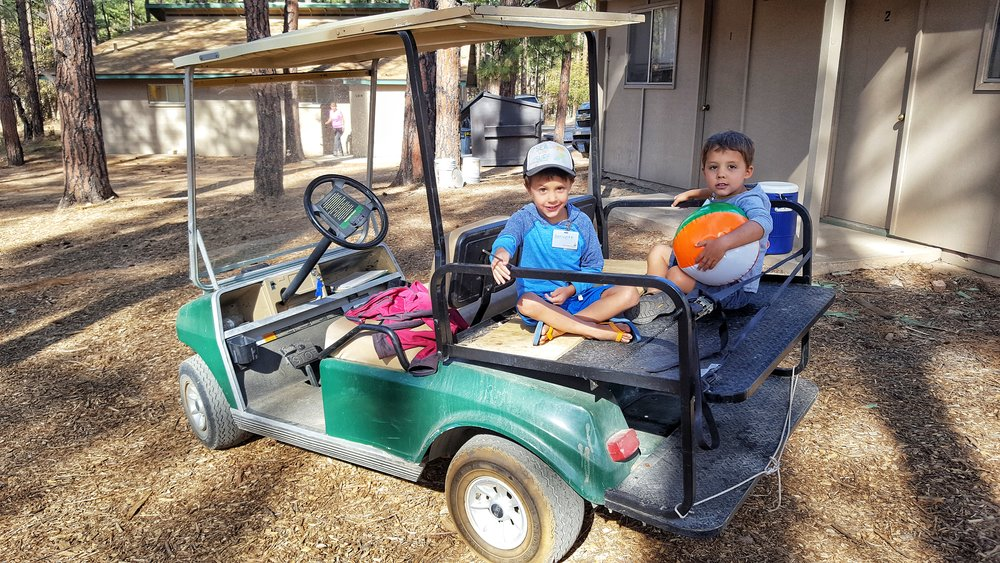 RAK: Prescott, AZ - The boys helping deliver water to the volunteers at Camp Yavapines.