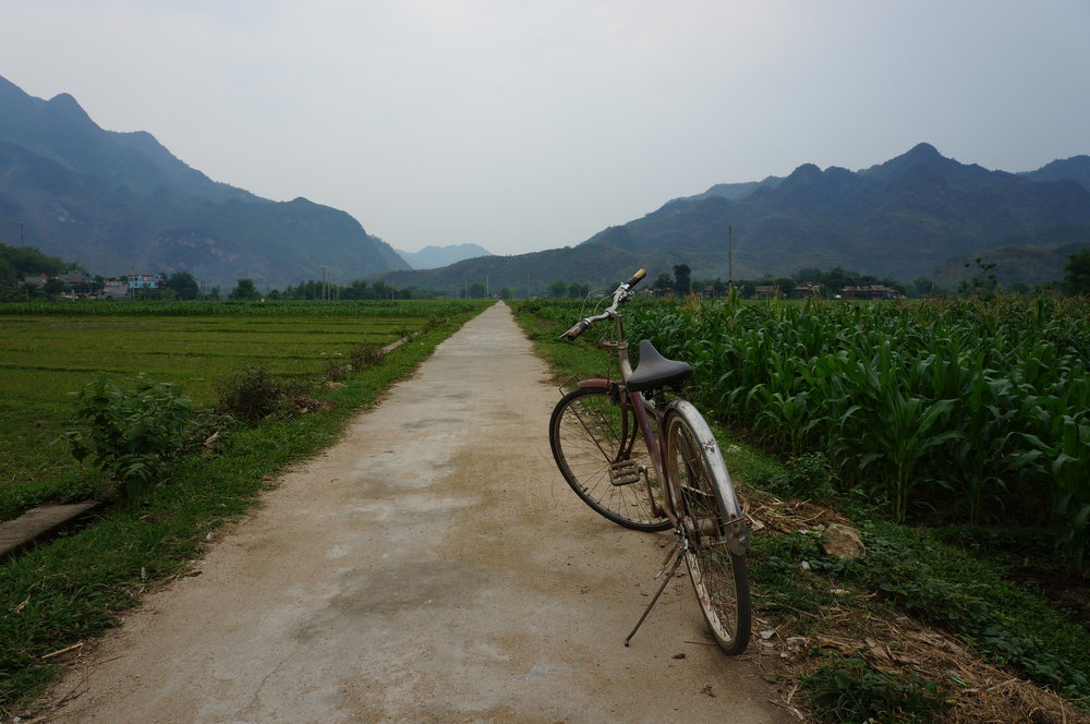 Views from our cruise in Mai Chau, Vietnam.
