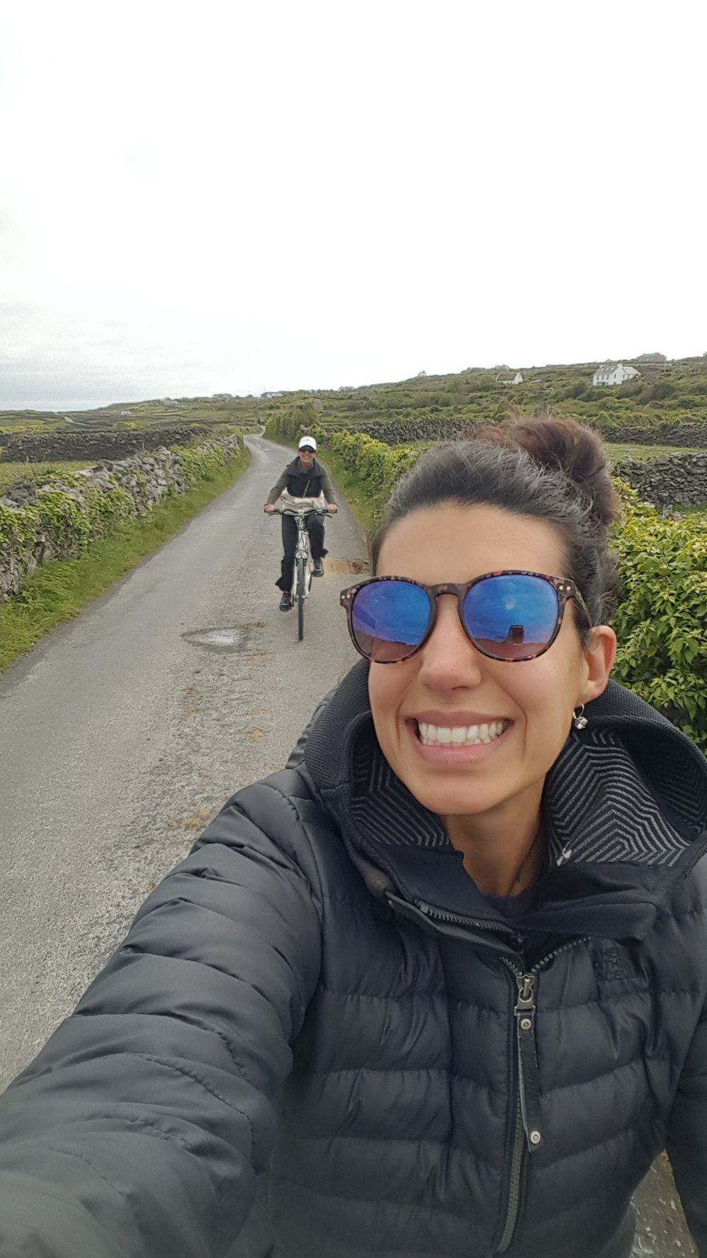 Hey! We do look happy cruising along in search of Dun Aengus