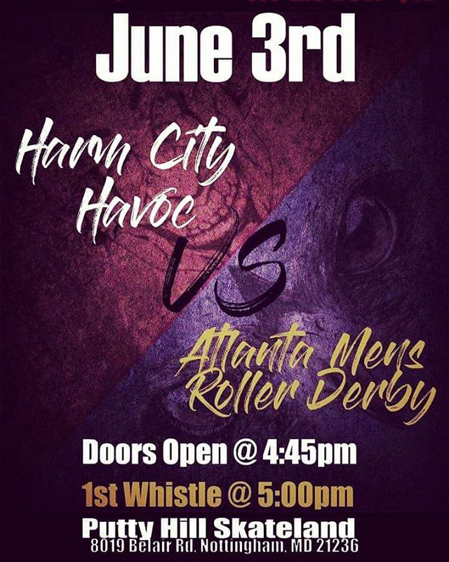 JUNE 3RD!!! HARM CITY HAVOC VS THE AMRD!!! DON'T MISS IT!!! Tickets are $8 presale, $10 at the door.