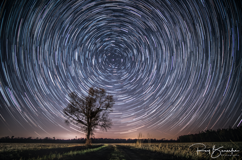 1st attempt at a star trail photo. Comfort Rd. Richlands, NC