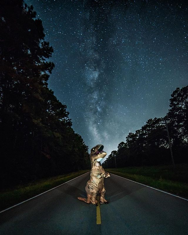 If you love MilkyWay shots as much as T-Rex does 👏clap your hands in the comments since he can't! 😁 . . . *Shot on #SonyAlpha A9 and Rokinon 14mm f/2.8 also thank you to my boy @its_whips for helping me out with light painting and composition! Hard to do when you're a T-Rex😂😂 . . .  #modernoutdoorsman #neverstopexploring #moodygrams #milkywaychasers #earthpix #instagram #hypebeast #lifeofadventure #heatercentral #huffpostgram #ig_masterpiece #natgeocreative  #moodygrams  #mightydreamers  #sonyimages #sonyalphasclub  #alphacollective  #way2ill  #instagood #roamtocreate  #brovisuals  #ig_killerz  #night_shooterz #nightphotography  #bestnightpix #ig_bestshotz  #weekly_feature  #weownthenight_nc #all2epic