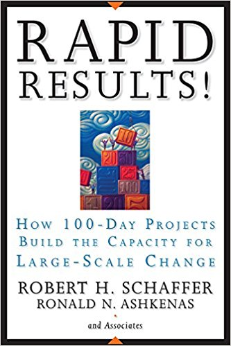 RAPID RESULTS! HOW 100-DAY PROJECTS BUILD THE CAPACITY FOR LARGE-SCALE CHANGE - Robert H. Schaffer & Ron AshkenasJossey-Bass | 2005