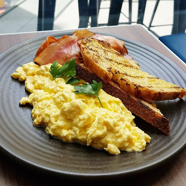 What's better than scrambled eggs & bacon on sourdough for breakfast?  We are now opened in Sydney CBD!!! 💙💚❤💛🧡💜