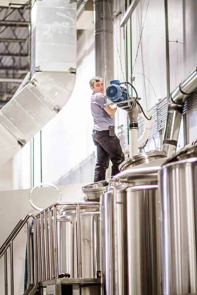 Vlad hard at work in the brewery.