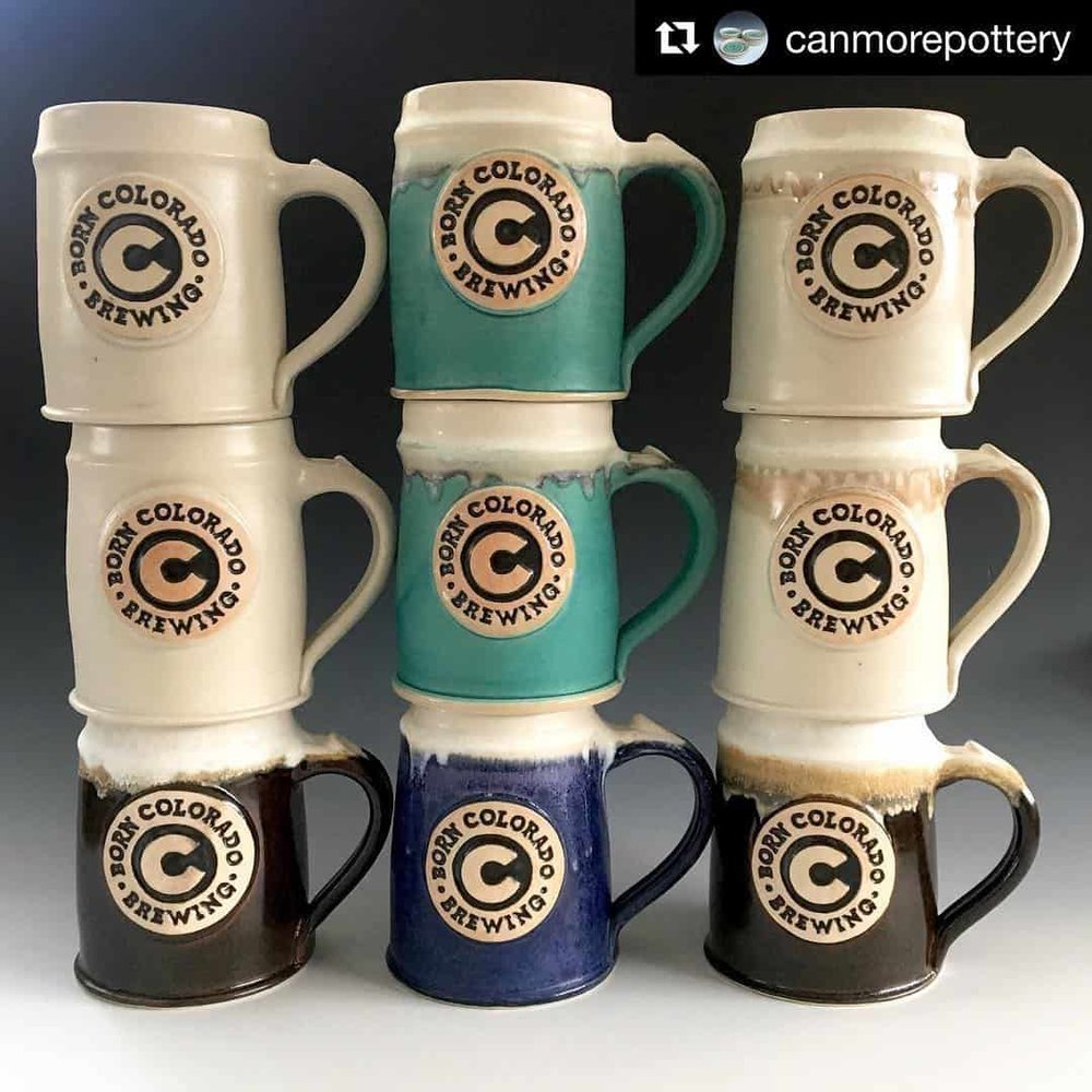 Born Colorado Brewing Club mugs!