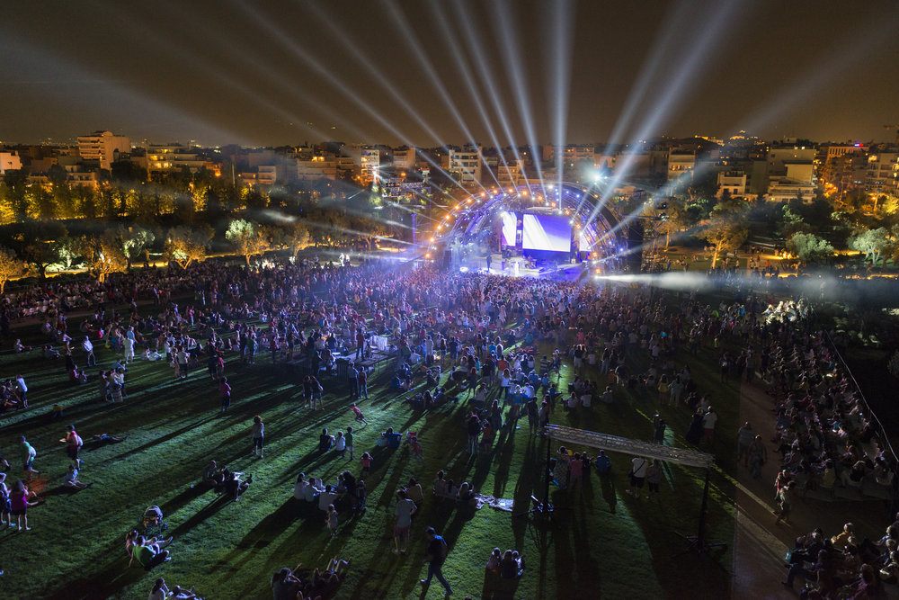 Stavros Niarchos Foundation Cultural Center, park during concert. © Yiorgis Yerolymbos.Courtesy of the Stavros Niarchos Foundation.
