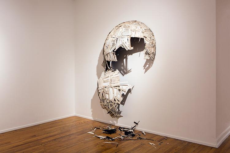 Clark's broken dome sculpture. Courtesy of Seth Clark.