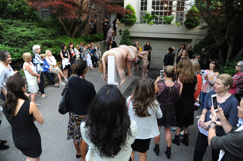 THE PERCH,  Performance, Partners in Art annual general meeting, 2018. Photograph courtesy of Shannon Eckstein.