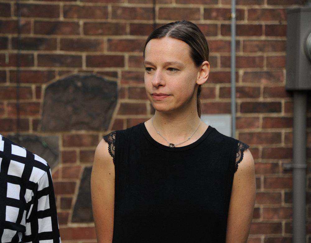 Photo of the artist, Elizabeth Czartoryski, Partners in Art annual general meeting, 2018. Courtesy of Shannon Eckstein.