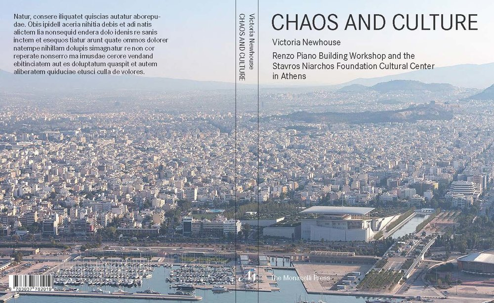 Chaos and Culture  book cover spread draft. Courtesy of The Monacelli Press.