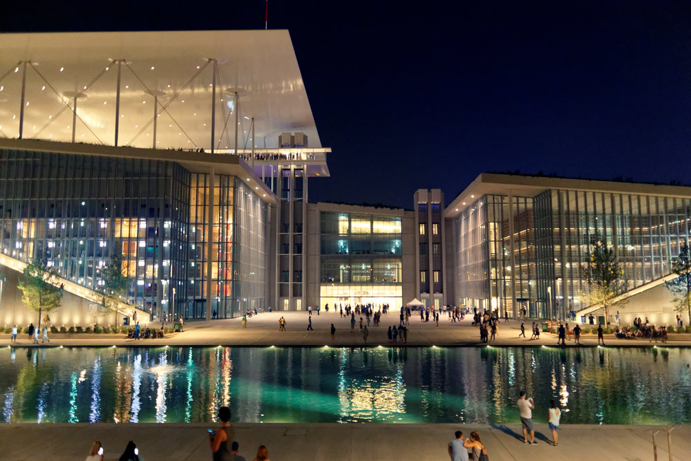 Stavros Niarchos Foundation Cultural Center, view from east. Courtesy of Bill Barekas.