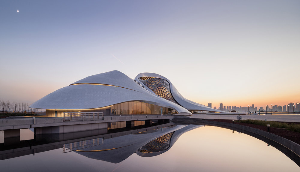 Photograph of the Harbin Opera House. Courtesy of MAD Architects.