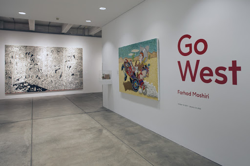 Go West  (2017) at The Andy Warhol Museum featuring the work of Farhad Moshiri and curated by Diaz. Photo by Richard Stoner, courtesy The Andy Warhol Museum.
