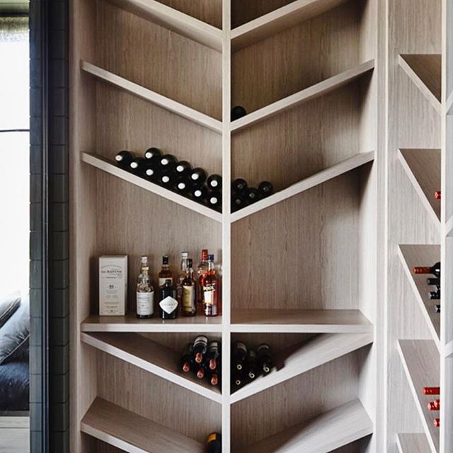 Gorgeous wine closet inspo for a secret project we're working on! Please share design/build info if you happen to know.