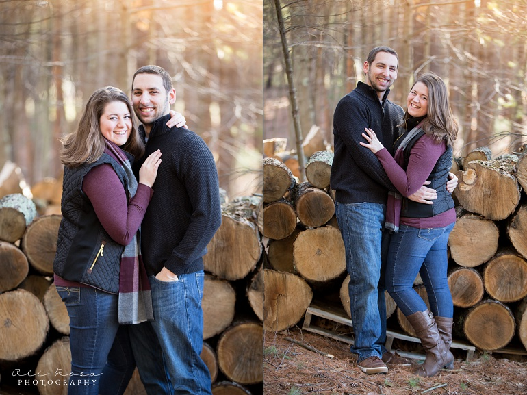 woodsy engagement photos ks04