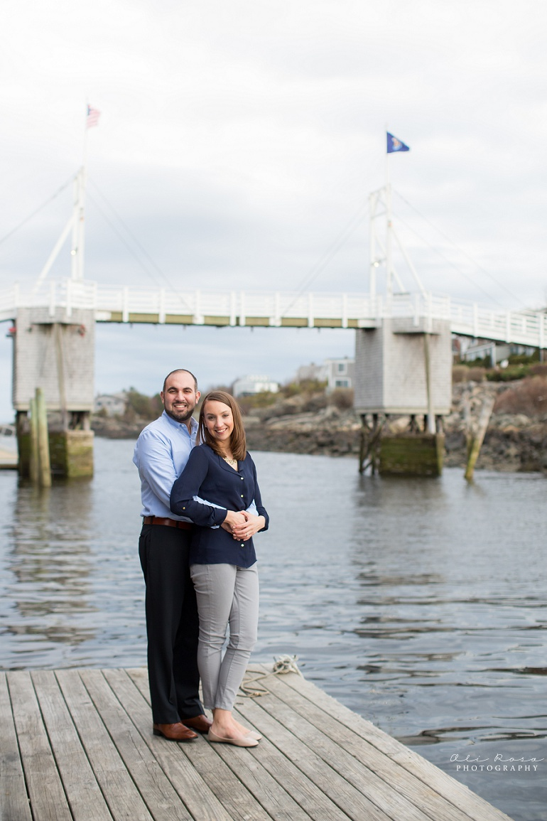 marginal way ogunqui maine engagement photost 14