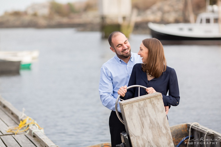 marginal way ogunqui maine engagement photost 15