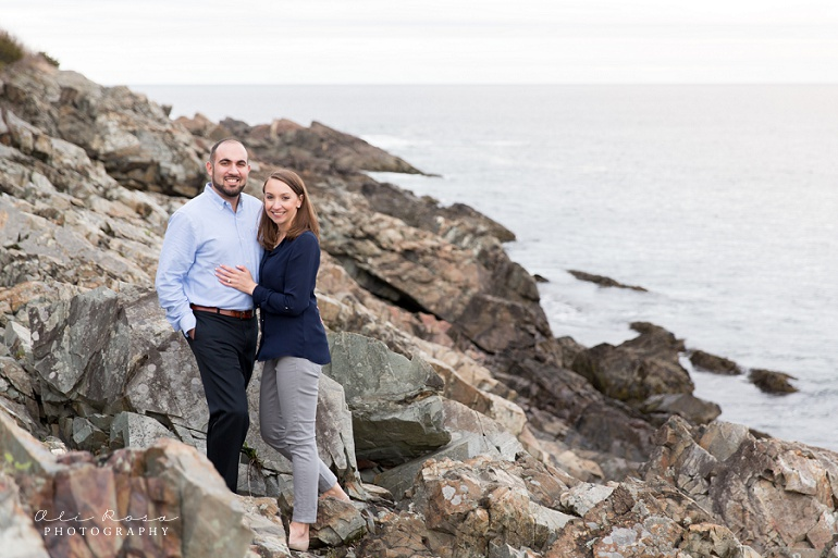 marginal way ogunqui maine engagement photost 19