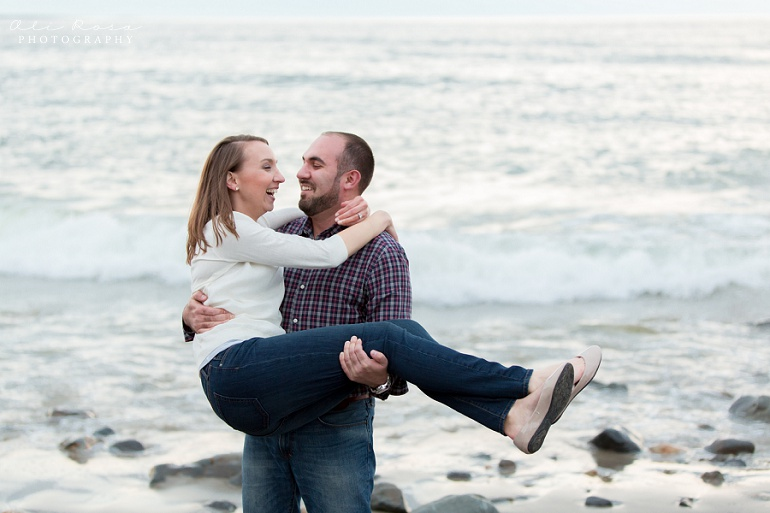 marginal way ogunqui maine engagement photost 44