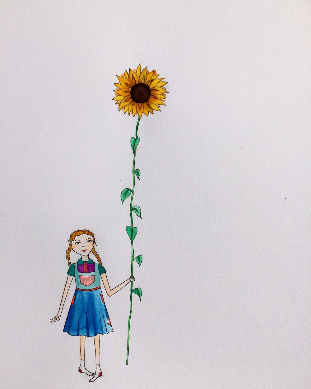 Jill and the Sunflower Stalk