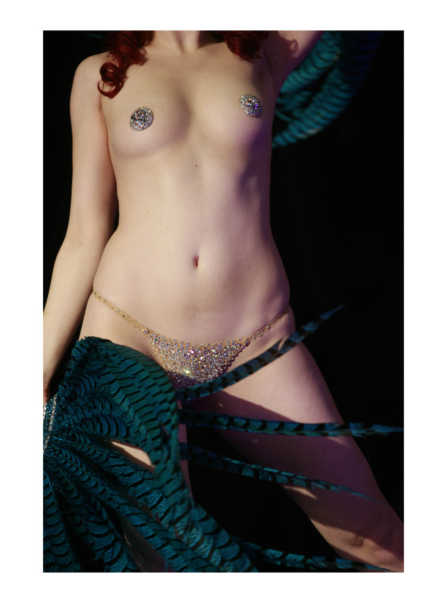 Burlesque  (London, England, 2011) by Johnny Green (53 x 43cm)  Price: £300   Size: 20.9 H x 16.9 W x 1.2 in   This is the 1st of 12 Limited Edition C-type Lambda prints, encased in a beautiful gloss white ayous wood frame. The matt photograph is signed & dated en verso by the artist and has an elegant off white mount also.