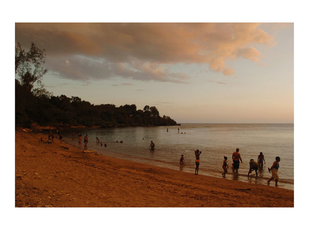 The Beach I  (Santiago de Cuba, Cuba, 2006) by Johnny Green (50 x 70cm)  Price: £375   Size: 19.7 H x 27.6 W in   This is the 1st of 12 Limited Edition C-type Lambda matt prints, unframed, but with an elegant off white mount which is signed and numbered by the artist.